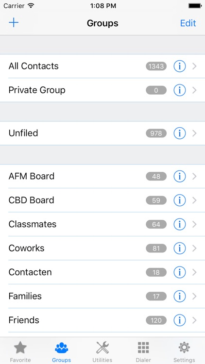 ZXContacts - Smart Contacts & Groups Manager