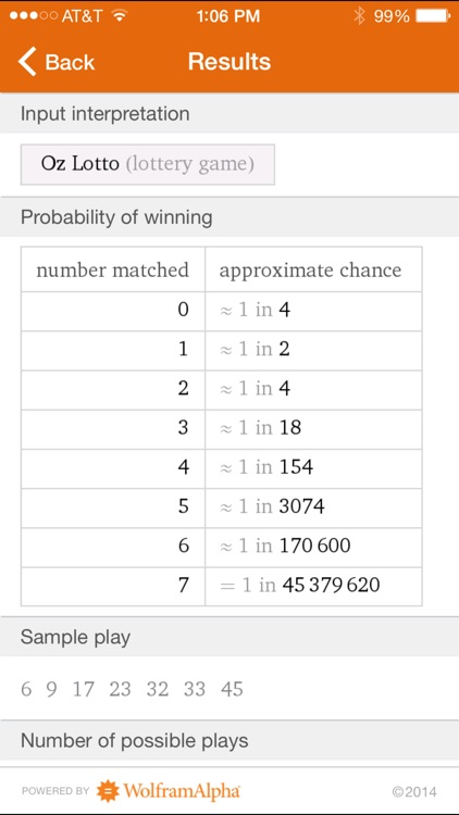 Wolfram Gaming Odds Reference App screenshot-4