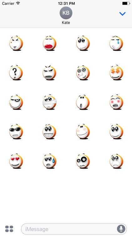 Animated Funny Character Stickers For iMessage