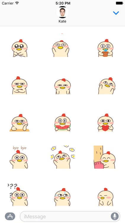 Baby Chicken Go Animated Stickers