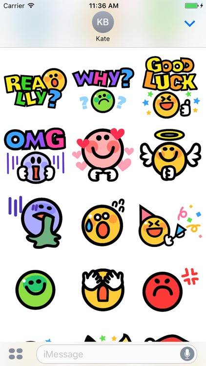 Smiley face Sticker 1 screenshot-3