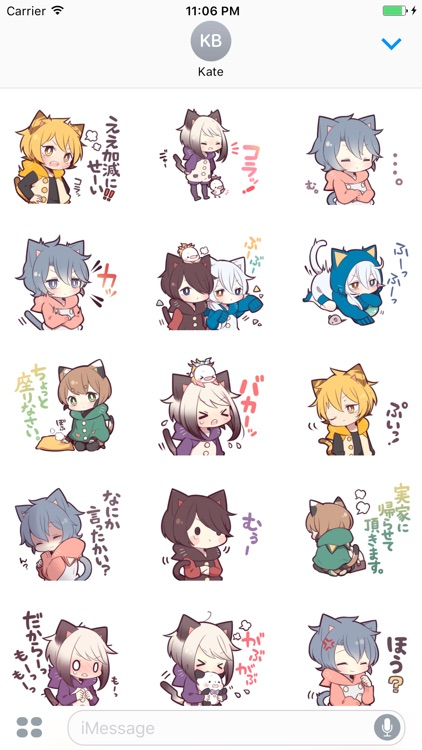 Cute Cat Girl Japanese Stickers