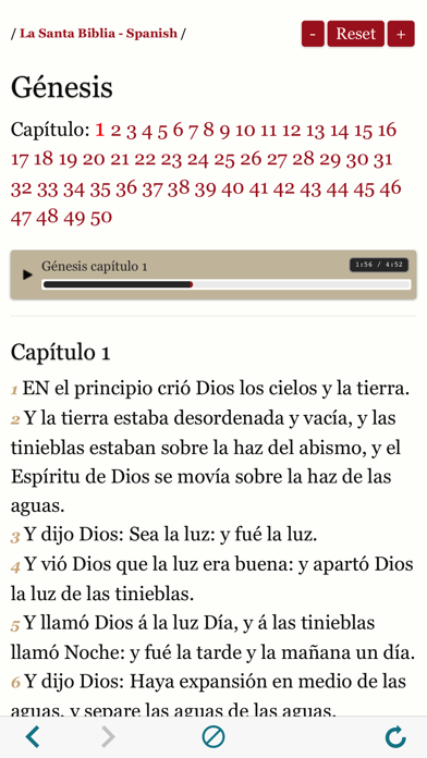 Spanish Bible : Easy to use Bible Audio book app screenshot two