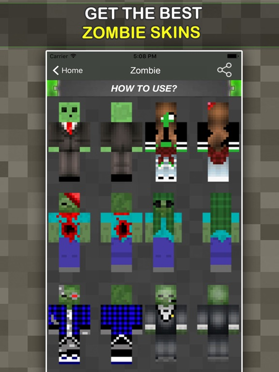 New Zombie Skins For Minecraft Pocket Edition App Price Drops - Skin para minecraft pe zombie