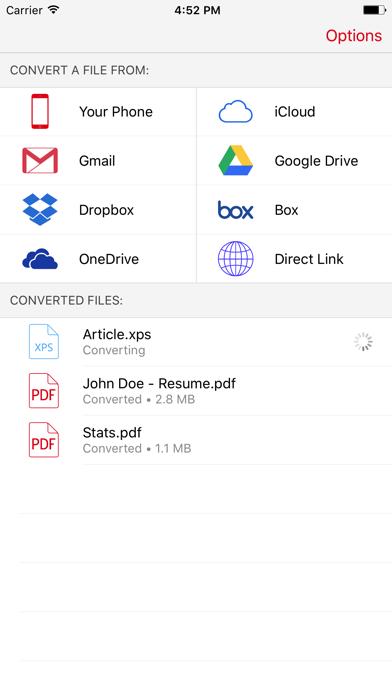 XPS to PDF Converter - Convert XPS files to PDF screenshot one