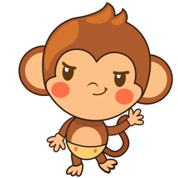 Chiki the funny monkey 2 for iMessage Sticker