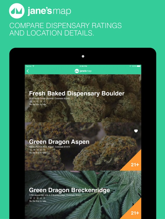 jane's map - find and rate cannabis dispensaries screenshot-3