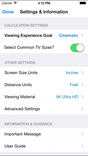Tv Size Calculator >> Tv Widget The Tv Size Calculator On The App Store