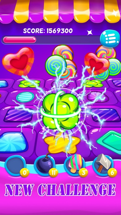 Jelly gems matching games screenshot two