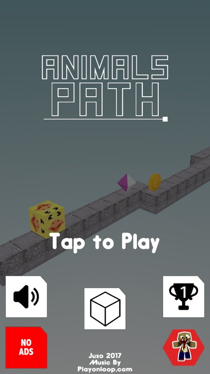 Animals Path - tap and flips cube to change lane screenshot-1