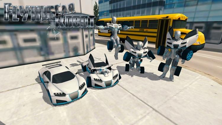 Flying Car Robot Flight Drive Simulator Game 2017 screenshot-0