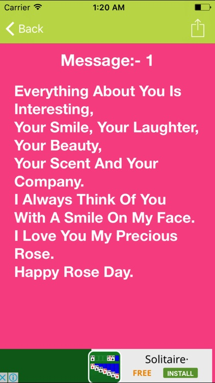 Happy Rose Day Messages,Greetings,SMS And Images screenshot-4
