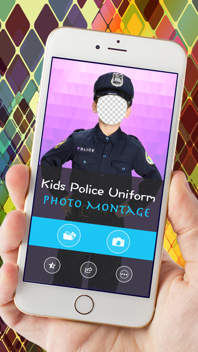 Kids Police Uniform Photo Montage screenshot two
