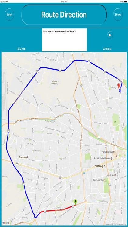 Santiago Chile Offline City Maps with Navigation screenshot-4