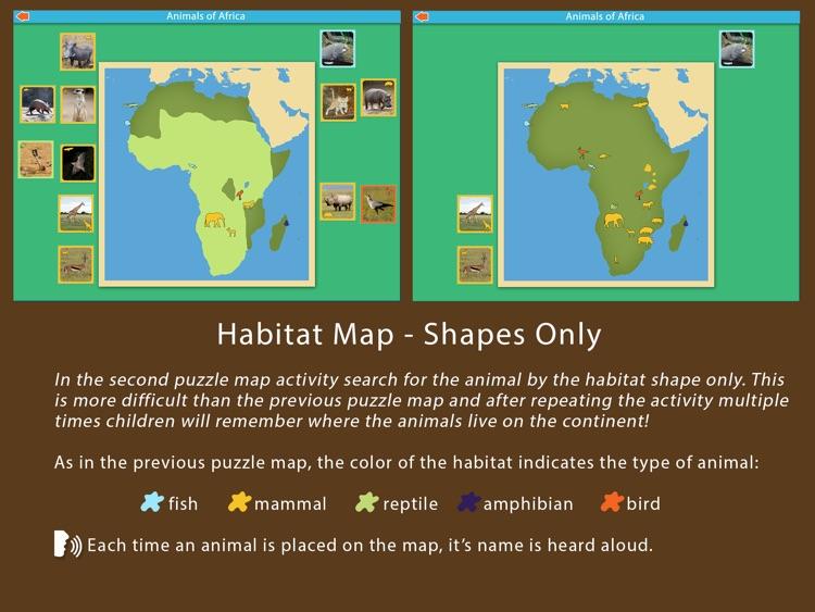 Animals of Africa - Montessori Geography screenshot-3
