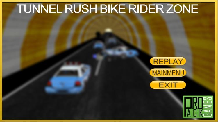 Tunnel Rush Motor Bike Rider Wrong Way Dander Zone screenshot-3