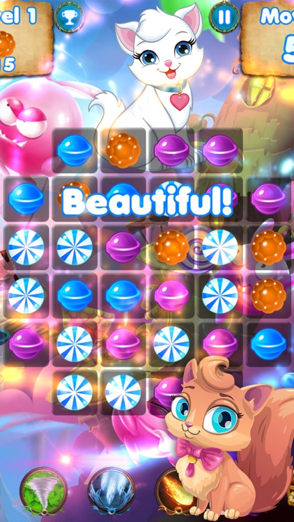 Kitty Crush - puzzle games with cats and candy
