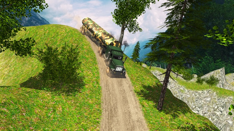 Uphill Offroad Army Oil Tanker Transporter Truck screenshot-3