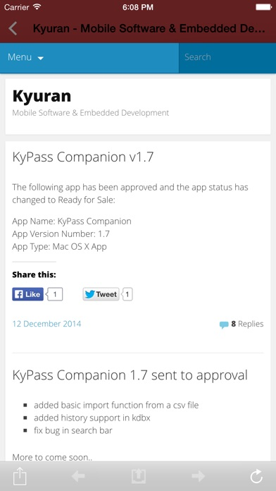 KyPass 3 - Keepass in sync Скриншоты7