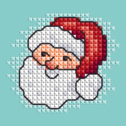 Cross Stitch Christmas - Holiday Stickers