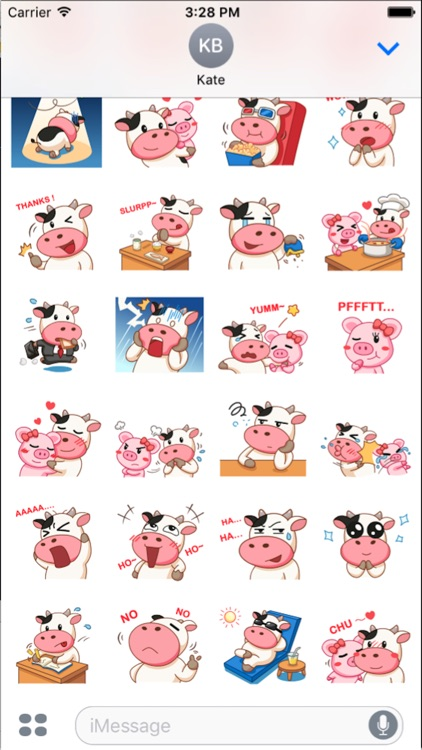 Milk Cow Sticker screenshot-3