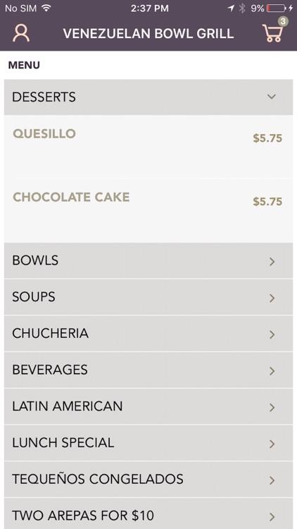Venezuelan Bowl Grill screenshot-4