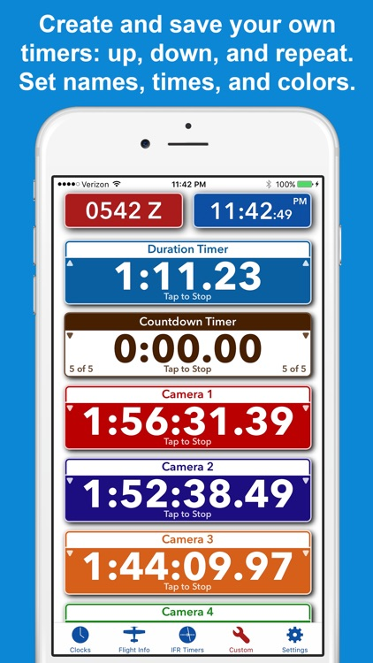 ZivTimer - Flight Timer with Zulu and World Time screenshot-4