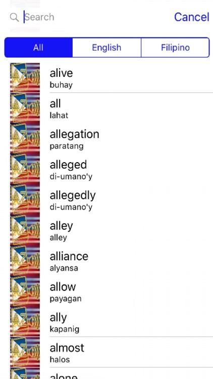 Filipino Dictionary GoldEdition screenshot-4