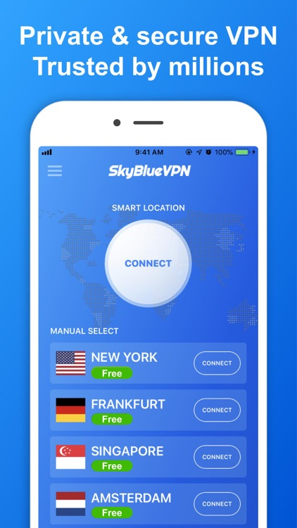SkyBlueVPN: VPN Fast & Secure screenshot-1