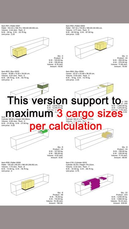 Cargo Optimizer Max 3 screenshot-5