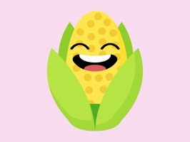 roasted corn stickers app