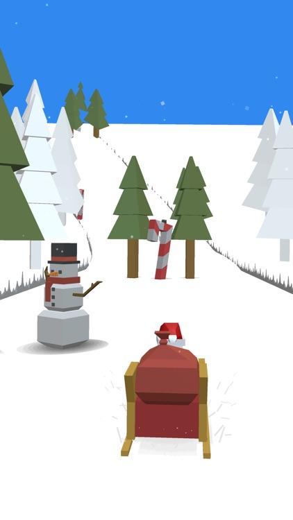 Xmas Santa Mad Sleigh Run screenshot-3