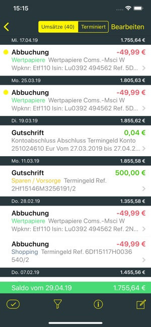 comdirect banking App Screenshot