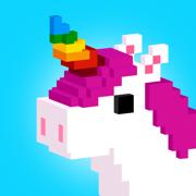 UNICORN 3D 涂色游戏: 独角兽 像素涂色