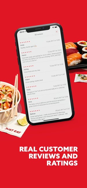 how do you write a review on just eat app