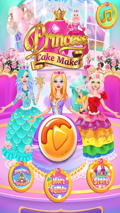 Rainbow Princess Cake Maker screenshot-4