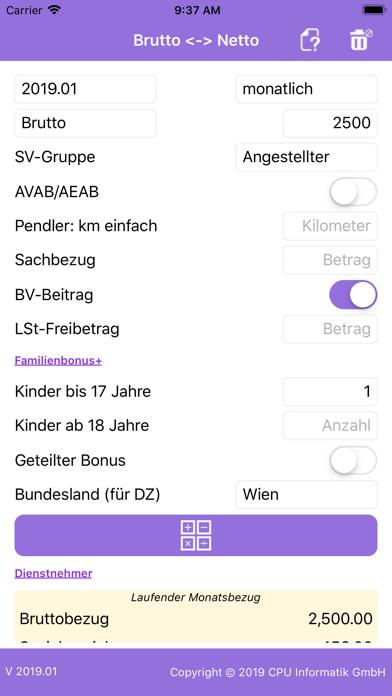 Screenshot for Brutto/Netto Rechner in Austria App Store