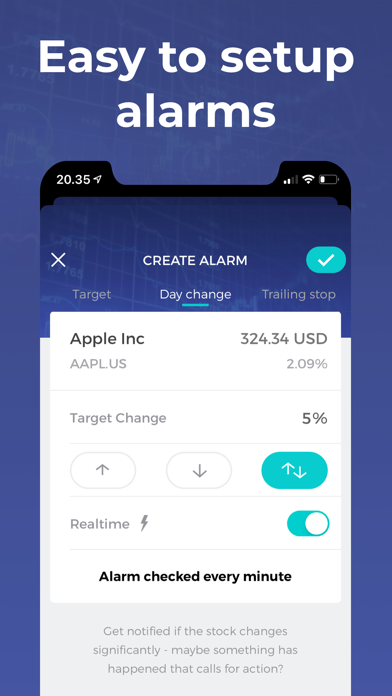Stock Alert - Custom alarms Screenshot
