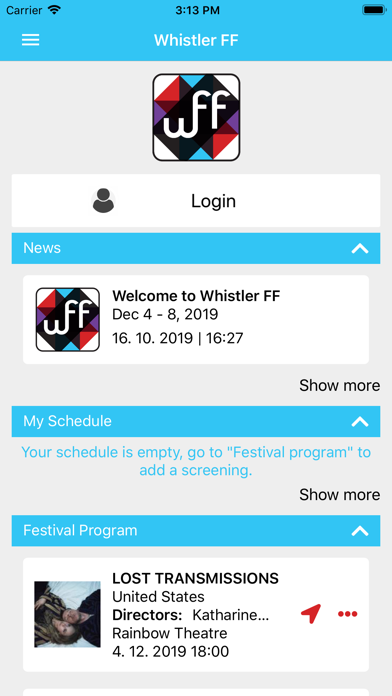 Whistler Film Festival screenshot one