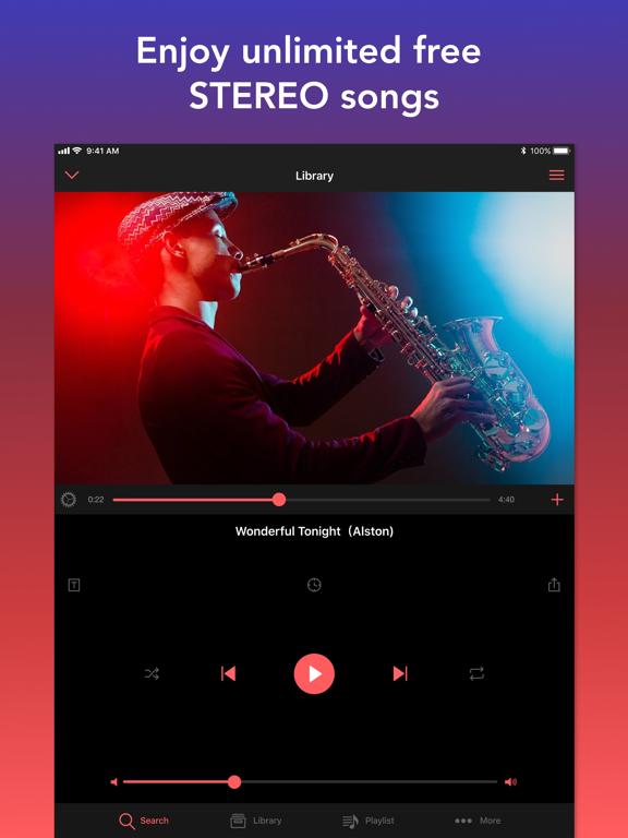 iPad Image of Mu - Online Music Video Player
