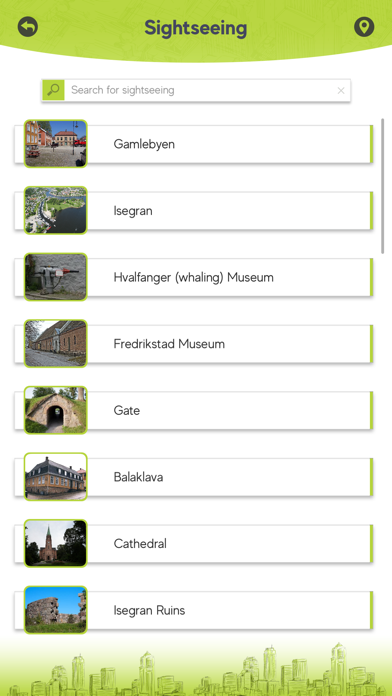 Screenshot of Fredrikstad Tourism App