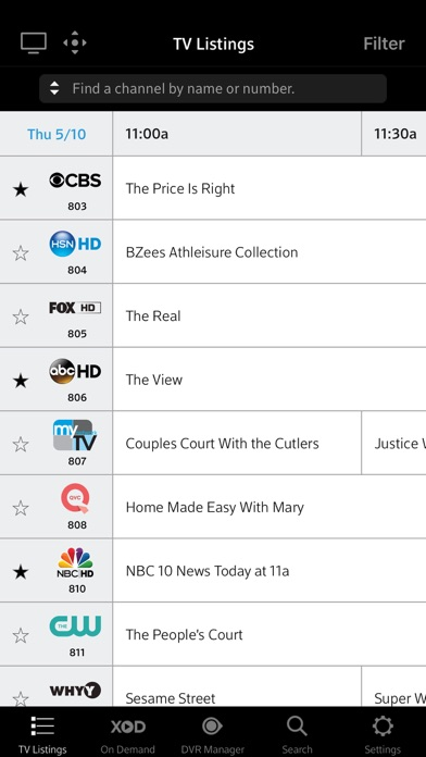 XFINITY TV Remote by Comcast (iOS, United States) - SearchMan App