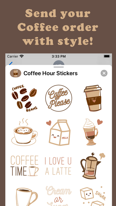 Coffee Hour Stickers screenshot 3