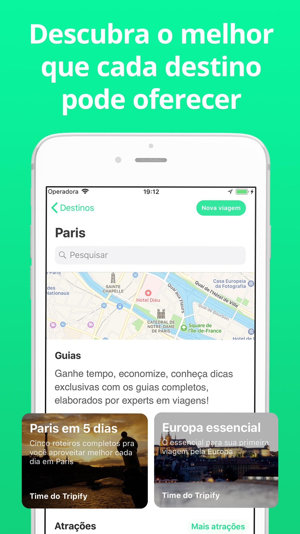 Screenshot do app Tripify - Viaje melhor