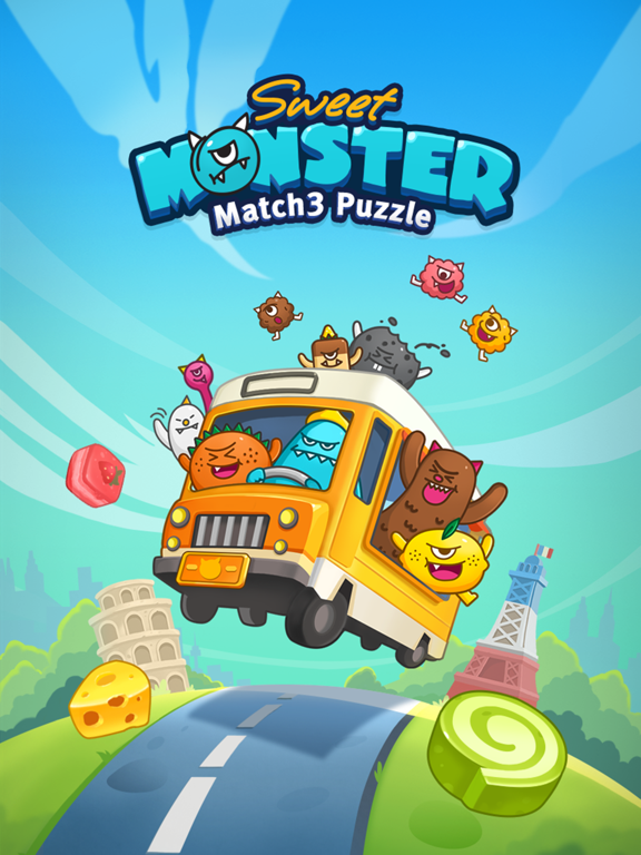 Match 3 Puzzle: SweetMonsterのおすすめ画像1
