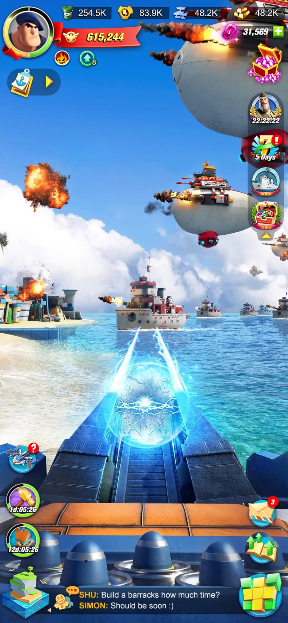 Sea Game: Mega Carrier Cheat Codes