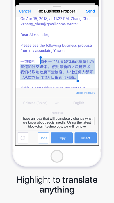 Screenshot #3 pour TransKey - Translator Keyboard