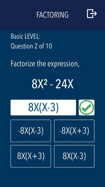 Algebra - Practice and prep screenshot-5