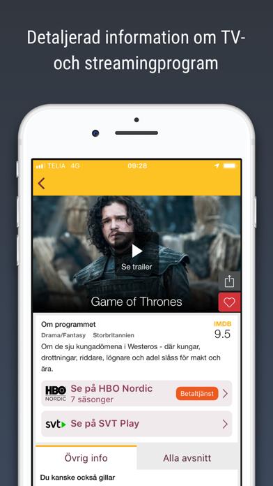 Screenshot for tv.nu - Guide till TV & Play in Sweden App Store
