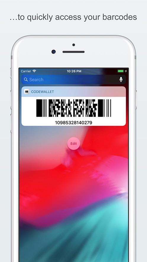 Barcode - Geldbörsen-Tool App 截图
